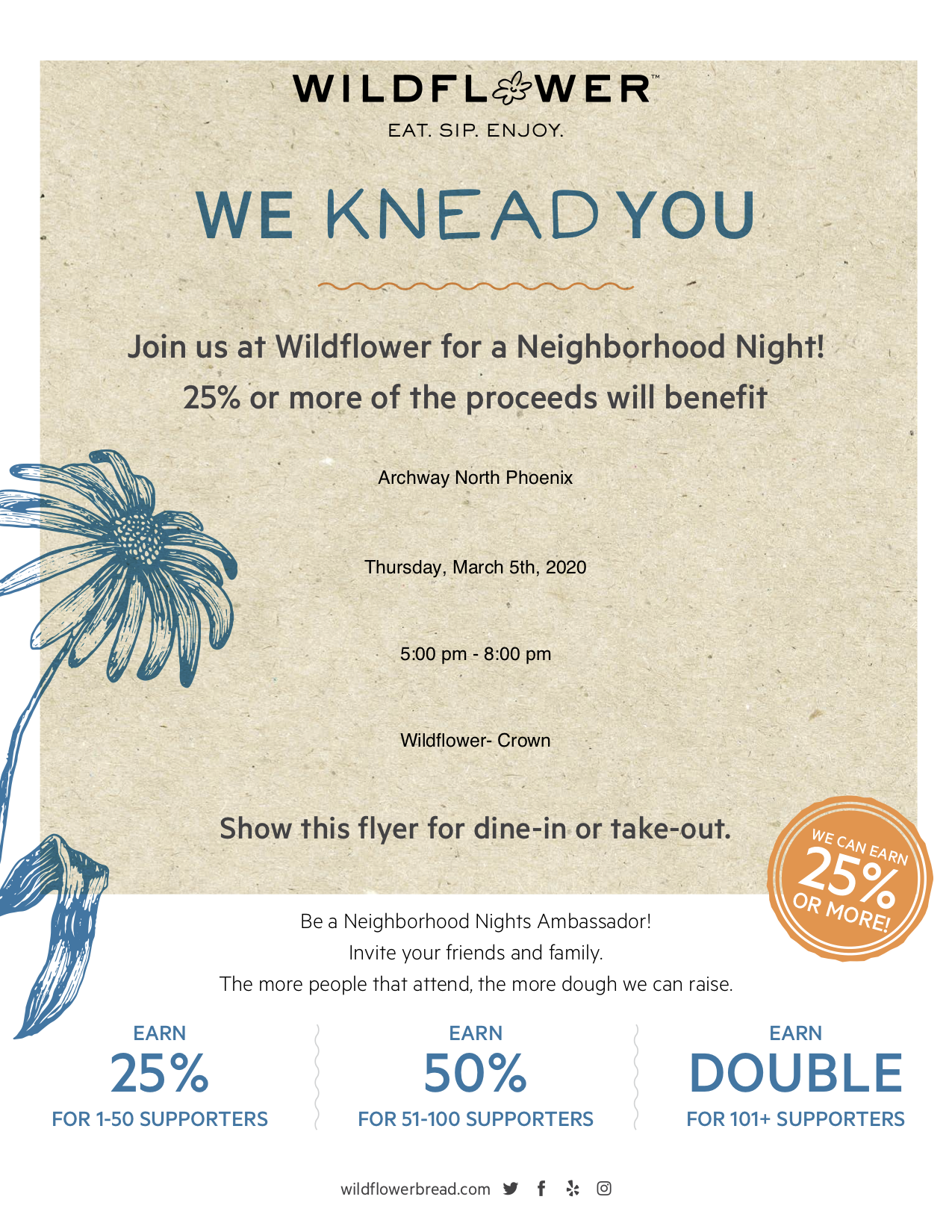 Wildflower Dine out @ Wildflower